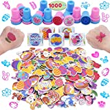 1000+ Easter Arts & Crafts with Stickers Rolls, Stampers, Foam Stickers, and Temporary Tattoos for Easter Basket Stuffers, Egg Fillers, Easter Egg Hunt Party, and Classroom Events.