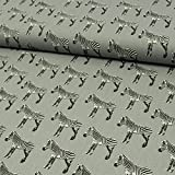 Stoffe Werning Baumwollstoff Zebras grau - Preis Gilt für