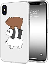 JOYLAND Transparent TPU Phone Case Cover Cartoon Bears Desgin Cell Phone Case Protective Shell Compatible for iPhone 7 Plus/iPhone 8 Plus