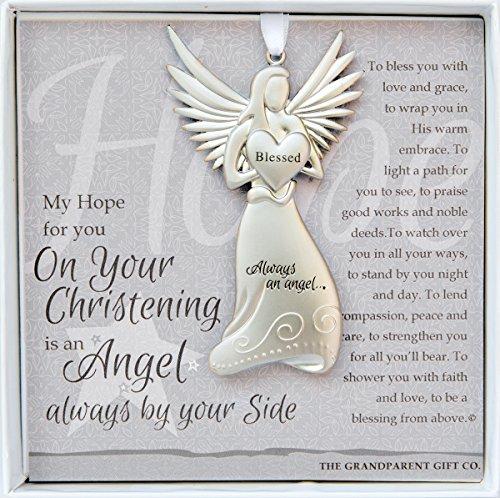 Always an Angel On Your Christening Keepsake Gift / Ornament