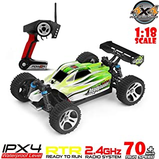 ASfairy WLtoys A959-B 1:18 RC Car 2.4G 4WD High Speed 70km/h Off-Road Race Buggy Toy Gift | Remote Control Car Off-Road Motor Vehicle| All Terrain Waterproof Toys Trucks for Kids and Adults