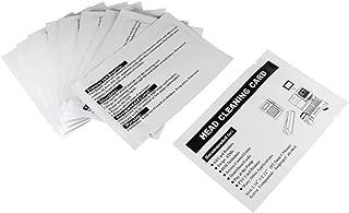 ETEKJOY 10 Pack Cleaning Card for Magnetic Stripe Credit Card Reader Writer Encoder Head, POS Swipe Card Reader Terminal, CR80 Magstripe Card Swiper