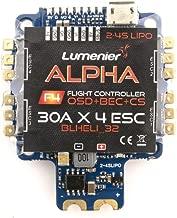 LUMENIER Alpha AIO Flight Controller (F4 FC, 4X 30A BLHeli_32 ESC, OSD, PDB, Curr) FPV Drone Racing