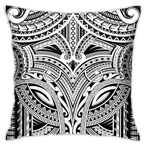 MZZhuBao Adorno polinesio adecuado para fundas de cama de tatuaje, almohadas, relleno de 45,7 x 45,7 cm, almohadas decorativas para interiores