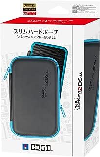 【2DS LL対応】スリムハードポーチ for Newニンテンドー2DS LL ブラック×ターコイズ