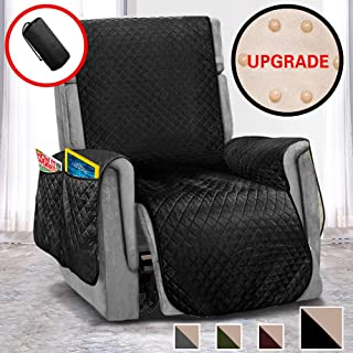 Vailge Oversized Recliner Covers, Durable Recliner Slipover with Back Non-Slip Dots,Machine Washable Recliner Covers for Dogs, Children, Pets(Recliner Oversize:Black)