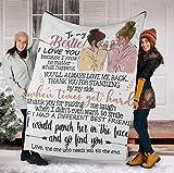 to My Bestie Cute Blanket Velveteen Plush/Sherpa Fleece Blanket 30x40, 50x60, 60x80 (Velveteen Plush 30x40)