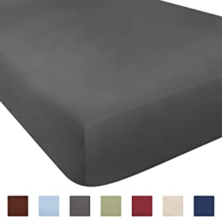 CGK Unlimited 21 Inch Extra Deep Fitted Sheet - Single Fitted Sheet Only - Extra Deep Pockets Cal King Size Sheets