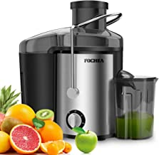 "Juice Extractor and Vegetables, FOCHEA Wide Mouth 3"" Centrifugal Juicer Machine for Fruit and Vegetable, Juicer Anti-drip with Pulse Function and Multi Speed Control, Easy to Use and Clean & BPA-Free"