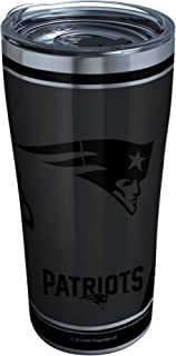 Tervis NFL 100-New England Patriots Stainless Steel Insulated Tumbler with Clear and Black Hammer Lid, 20 oz, Silver