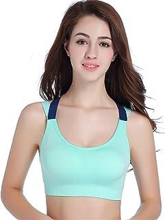 Zhicaikeji Soutien-gorge de yoga sans coutures pour femme - Pour le yoga et le fitness