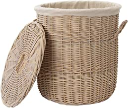 YAYADU Storage Basket Rattan High Capacity Hand Weave With Carry Handle Vegetables Books Clothes Bedroom Wardrobe 1 Cm = ...