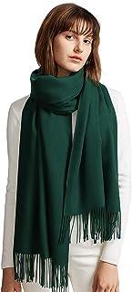 MaaMgic Schal Damen Warm Früehling unifarben Baumwolle mit quasten/fransen, 40 Farben Einfarbig & Kariert Pashmina xl Schals Stola MEHRWEG