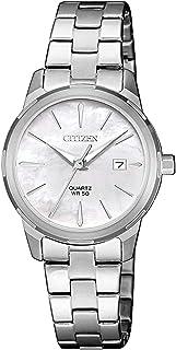 Citizen Women White Dial Stainless Steel Band Watch - EU6070-51D