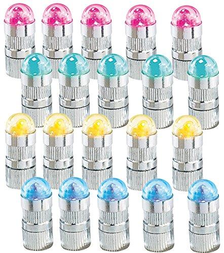 infactory Ballonlichter: Bunte LED-Ballon-Blinker im 20er-Sparpack inkl. Luftballons (Mini LED Ballon)