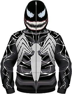 Silver Basic Felpa con Zip Super Hero Cosplay Bambino Custume in Carnevale e Feste