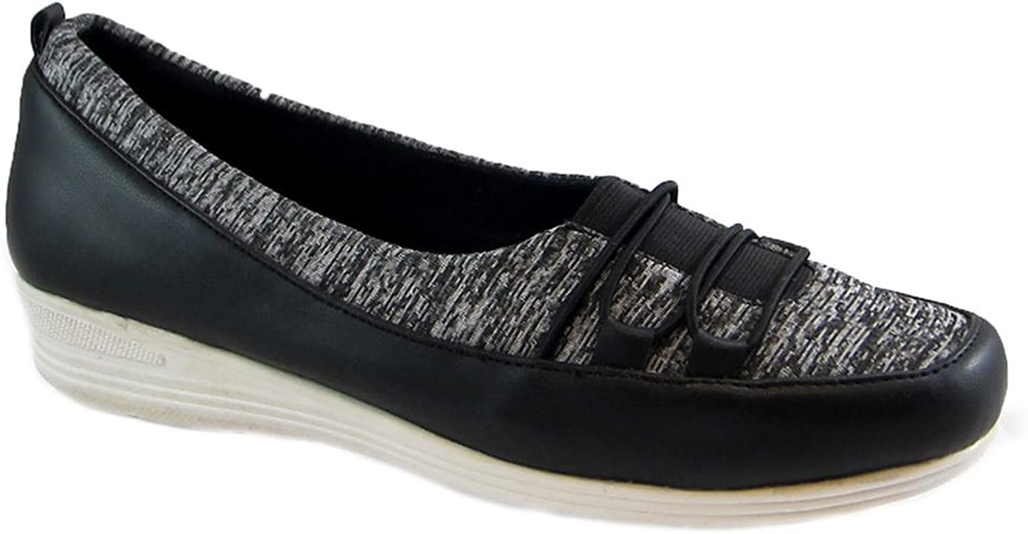 Bees By Beacon Womens Polly Jersey Square Toe Ballet Flats
