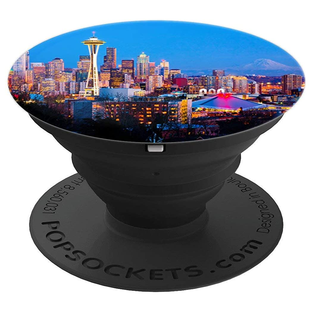 Seattle Washington City Skyline - PopSockets Grip and Stand for Phones and Tablets