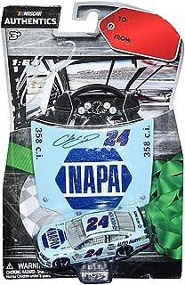 AUTOGRAPHED 2017 Chase Elliott #24 NAPA Racing DARLINGTON THROWBACK RETRO PAINT SCHEME (Hendrick Motorsports) NASCAR Authentics Signed Lionel 1/64 Scale NASCAR Diecast Car with Hood Magnet & COA