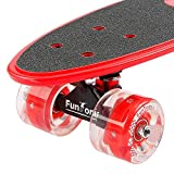 FunTomia Mini-Board Cruiser Skateboard mit 70/65mm Big Wheel Rollen inkl. MACH1® ABEC-11 Kugellager - 2