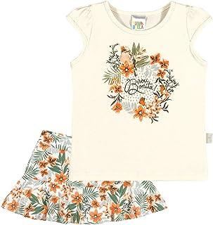 Conjunto Natural Bebê Menina Cotton 36113-68