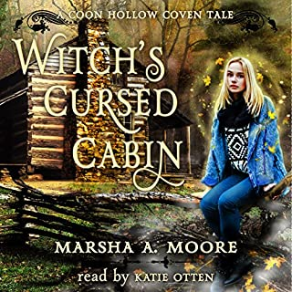Witch's Cursed Cabin audiobook cover art