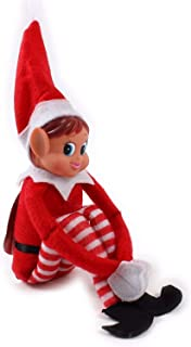 Glow Wholesale Elvie Pupazzo a forma di elfo (femmina) birichina, con corpo morbido e viso in vinile, colore rosso