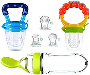 G-Bay Baby Food Feeder with Meshes Sizes Solid Nipple
