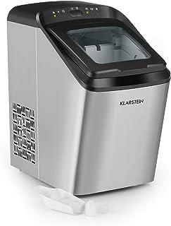 KLARSTEIN Partytime - Machine à glaçons, 15kg/24h, 2 tailles de glaçons: S & L, temps de production en 7 minutes, glaçons ...