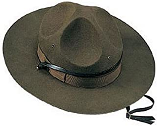 Drill Sergeant Hat Army Instructor State Trooper Mountie Park Ranger Official Wool Felt