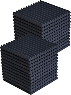 "24 Pack Acoustic Panels Studio Foam Wedges 1"" X 12"" X 12"" Soundproof Studio Foam for Walls Sound Absorbing Panels Sound In..."
