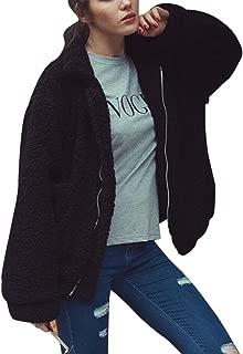 Women's Lapel Long Sleeve Faux Shearling Coat Winter Boyfriend Winter Faux Coat
