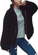 CHOiES record your inspired fashion Women's Lapel Long Sleeve Faux Shearling Coat Winter Boyfriend Winter Faux Coat