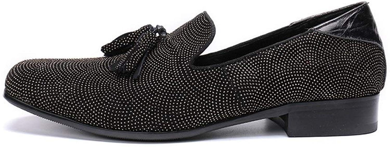 Rui Landade Oxford för man formella skor glider på stil äkta läder utsökta Tassels delikata metall dekoreringaa