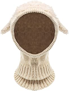 Baby Girls Boys Winter Hat Scarf Earflap Hood Scarves Skull Caps