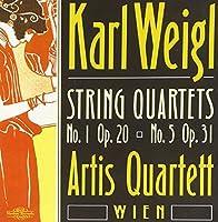 Karl Weigl: String Quartets 1 & 5 / Artis Quartett Wien (2000-09-26)