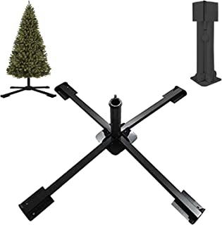 MIYA Christmas Tree Stand - Heavy Duty Artificial Christmas Tree Base for Fake Trees Less Than 2