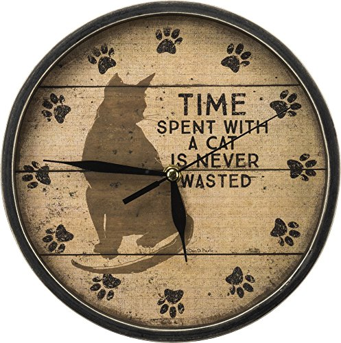 Primitives by Kathy 33894 Time with Cats Clock