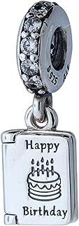 Pandora 791723CZ Silver Birthday Card Charm