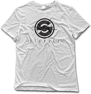 Men Funny Starset Rock Band Logo Short Sleeve T Shirts