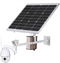 Security Camera System Outdoor 4G SIM Card Wireless Solar 1080P HD Bullet Push Information Function Motion Detection for A...