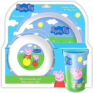 Holland Plastics Original Brand 'Peppa' 3 Piece Dining Set!! Complete with Plate, Bowl & Tumber/Beaker.