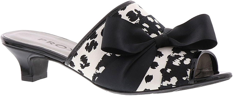 NOTFOUND Proxy Womens Tiffney Open Toe Casual Slide Sandals, Black-White, Size 9.0