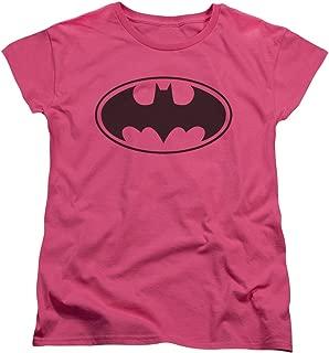 Batman Symbol Classic Women's Pink T-Shirt