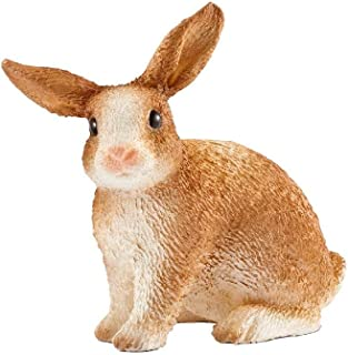 Schleich-13827 Conejo de Granja, Color marrón (13827