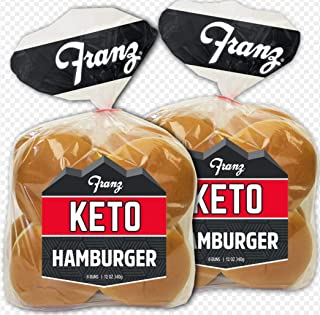 Franz- Keto Hamburger Buns- Zero NET Carbs- 16 Pack