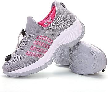 ZYEN Womens Walking Shoes