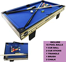 haxTON Pool Table Accessories Kit with Pool Balls, Pool Chalk, Pool Triangle, and Pool Table Brush for Kids and Adults