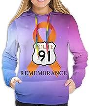 BLG144 Remembrance Route 91 Logo Fashion Hoodie for Womens Streetwear Hoody Ladies Long Sleeve
