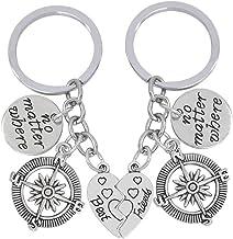 Gleamart ami Keychain Boussole V/éritable Amiti/é Knows Non Distance Cadeaux Porte-cl/és